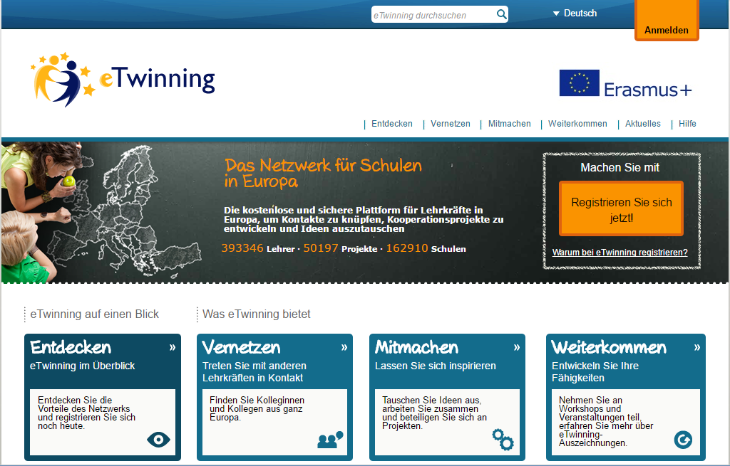 Screenshot eTwinning