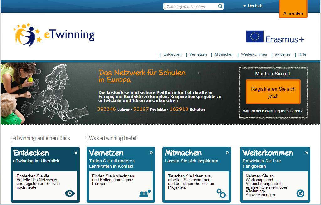 Screenshot eTwinning