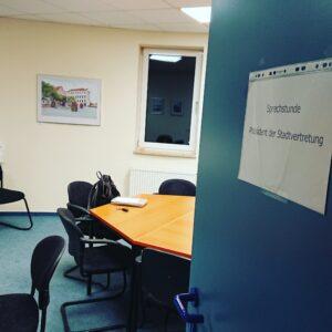 Der Beratungsraum für die Einwohnersprechstunde